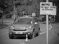 Tow Away Zone (Andrew Gustar) Tags: tow away zone parking car cones bristol