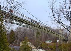 Montmorency Falls Bridge (jmaxtours) Tags: montmorencyfalls montmorencyfallsbridge quebec chutemontmorency waterfalls chute built1926 bridge pont