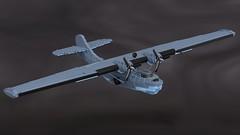 PBY-5A Catalina (Backward Matt) Tags: lego legomilitary legodigitaldesigner ldd render blender consolidated pby catalina pby5a plane boat ww2 wwii worldwartwo mattthebackwardone backwardmatt