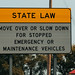 State Law: Move Over or Slow Down for Stopped Emergency or Maintenance Vehicles