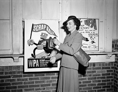 Display at a scrap salvage rally sponsored by the Work Projects Administration (WPA) at the state fairgrounds. Detroit, Michigan, 1942. (polkbritton) Tags: arthursiegel 1940s fsaowi vintagefashion wwiihomefront wwii detroithistory michiganhistory libraryofcongresscollections