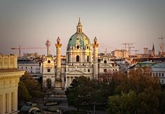 Karlskirche (Tiigra) Tags: wien austria at 2017 architecture baroque church city column cross dome garden spire tower vienna
