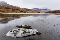 Loch Fada (Johan Konz) Tags: lochfada isleofskye skye scotland lake water ice reflection sky mountain snow oldmanofstorr outdoor landscape nikon d7500 waterscape