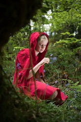 Chaperon rouge 🌿 (gwendoline.lereste) Tags: nikon nikond810 rouge red rojo vert verde green france bretagne fleur flower portrait creation
