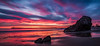 Corona Del Mar State Beach Sunset (meeyak) Tags: coronadelmar beach ocean newportbeach orangecounty california usa america rocks reflection travel vacation outdoors sunset epic light colors afterglow landscape seascape meeyak mikemarshall nikon d5500 1635mm longexposure ndfilter reallyrightstuff spring summer warm happy