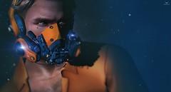 Skip~Vrsion S9 K (Skip Staheli *FULLY BOOKED*) Tags: skipstaheli secondlife vrsion mask blue blueeyes sl avatar virtualworld bokeh fantasy sciencefiction action digitalpainting