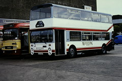 WESTERN SCOTTISH R860 XSJ660T (bobbyblack51) Tags: western scottish r860 xsj660t leyland fleetline northern counties westernsmt 2779 ayr bus station 1988