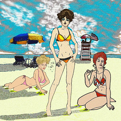 Beach Scene (J Lincoln Hallowell Jr) Tags: art background beach beautiful beauty bikini blond blue body cartoon cloud cute design exotic face fashion female girl hair healthy holiday illustration lady legs long model nature ocean outdoor people person sand sea sexy sky slim smile summer sunny swimsuit tan travel tropical vacation vector water white women young sketch