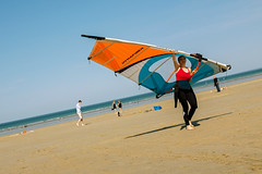 Back from the Sea (Ktoine) Tags: swimsuit rosaires plérin sea beach wind board fly wing suit neopren horizon sail girl sport candid