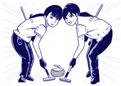 カーリング女子2018_1 (Yujin Ito) Tags: curling sport girl olympic pyeongchangolympic スポーツ カーリング 女子 cartoon