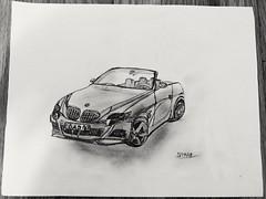 BMW Sketch (Sasha CraftSpace) Tags: draw sketch car bmw convertible graphite lead automobile