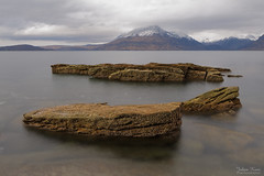 The Elgol Rocks (Johan Konz) Tags: lochscavaig elgol isleofskye skye scotland rock water sea sky clouds mountain snow blackgullins outdoor landscape waterscape nikon d7500 seascape