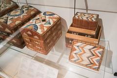Mi'kmaq porcupine quill boxes (quinet) Tags: 2017 aborigène canada firstnations indian kunst ontario rom royalontariomuseum toronto ureinwohner aboriginal art museum musée native 124