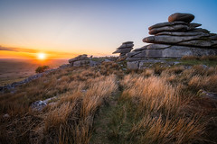 Sunset on Stowes Hill (Timothy Gilbert) Tags: stoweshill bodminmoor microfournerds lumix wideangle sunset minions m43 ultrawide panasonic laowacompactdreamer75mmf20 cornwall microfourthirds gx8 boulders rocks