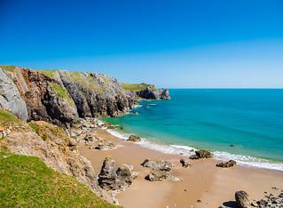 Flimston Bay, Stack Rocks, Pembrokeshire.