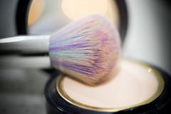 Never ready for the day without... my unicorn brush!!! (Amy Maher) Tags: macromademoiselle dof mirror bokeh colourful 105mm nikond750 macro makeup powder brush unicorn readyfortheday macromonday