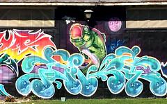 Burlington, VT :: group graffiti walls (origamidon) Tags: fish graffiti walls mural artisis colorful vermontlakemonsters kingstreet burlingtonvermontusa burlington vermont vt usa chittendencounty greenmountainstate 05401 donshall origamidon