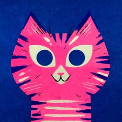 Tabby (kolbisneat) Tags: risograph cat siamese russianblue tabby mainecoon angora ragdoll limitedpalette illustration kolbisneat andrewkolb