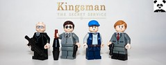 Kingsman: The Secret Service (Random_Panda) Tags: lego figs fig figures figure minifigs minifig minifigures minifigure purist purists character characters hero heroes super book books films film movie movies tv show shows television eggsy kingsman the secret service merlin roxy harry