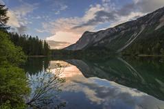 Tovel reflections (Paolo Dell'Angelo (JourneyToItaly)) Tags: lagoditovel villedanaunia valdinon provinciaditrento trentinoaltoadige italia lake sunset reflections italy