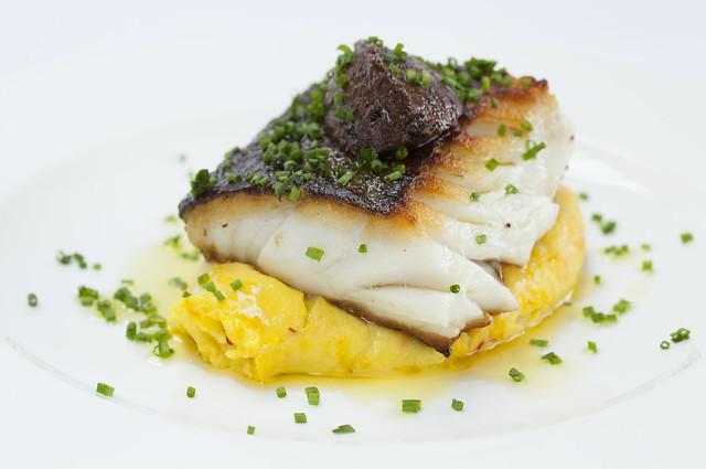 Roast fish with mash and gremolata © ROH Restaurants 2018