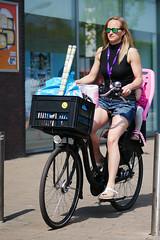 smiles - green shades mother (pazitri) Tags: street candid bike biker cyclist mother smiles digitris digitri paz pazitri