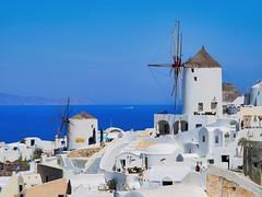 Santorini - windmills (niallfritz) Tags: greece santorini windmill ocean cliff town white island volcano sea aoi elitegalleryaoi bestcapturesaoi aoi3levels greatphotographers coth coth5 goldgallery