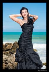 Ambs (madmarv00) Tags: bellowsbeachpark d800 nikon hawaii kylenishiokacom oahu renegadeangels model girl woman blackdress dress beach ocean shore rocks tattoo portrait