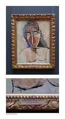 Bust Of A Nude (peterphotographic) Tags: p3210265edwm olympus tough tg5 ©peterhall statehermitagemuseum stpetersburg saintpetersburg russia госуда́рственныйэрмита́ж санктпетербу́рг росси́я art artgallery museum painting diptych picasso pablopicasso label sign russian cyrillic nude bust 1907 bustofanude