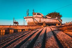 Atlantic Beach Sunrise (ashercurri) Tags: atlantic beach sunrise sunset golden hour boat abandoned sony a7ii landscape north carolina