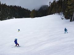 Day 49: Action shot (Ruth and Dave) Tags: catrion fiona andrew skiers children girls whistler whistlerblackcomb skiing slope steep moguls bumpy piste skirun skiresort