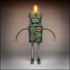 AI (Rodrick Dale) Tags: ai robot lamp idea concept ceramic pottery metal art