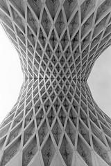 Details of Azadi Tower (mesutsuat) Tags: iran tehran pentax k1000 fujifilm acros 100 fuji blackwhite 35mm film analog negative middle east