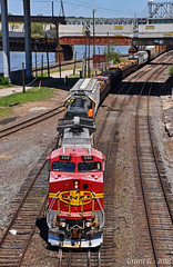 "Westbound Transfer in Kansas City, MO (""Righteous"" Grant G.) Tags: santa fe railway railroad locomotive train trains west westbound atsf bnsf ge emd transfer freight yard job kansas city missouri"