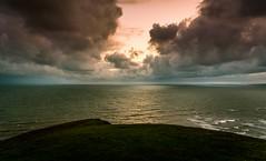 Horizon (scamart1st) Tags: sunset storm clouds sky colour sark calm sea coast cliff waves wales uk southerndown nikon 24 120 atmosphere