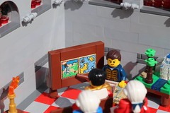 Lieutenant Joshua's Presentation (spud_the_viking) Tags: botbse2fb3 lego eurobricks botbs corrington moc redcoats map lecture hall