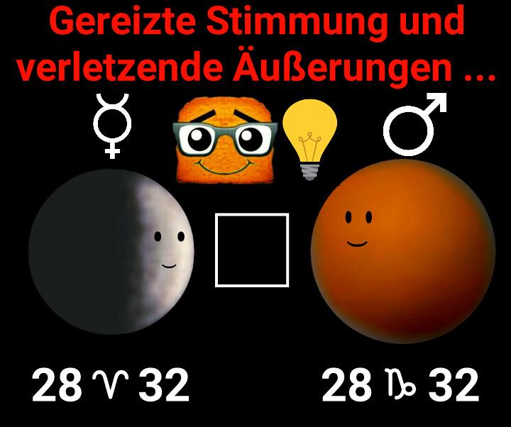 Merkur Quadrat Mars