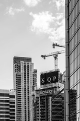 South Quay Plaza - 10.5.18 (Ryan Trower Photography) Tags: skyscrapers london nikon d5300 architecture construction black white building structure skyscraper lines sky monochrome geometric city urban street tower facade concrete glass towers photography architect architects residential commercial sigma samyang londonarchitecture londonconstruction nikond5300 canarywharf canary wharf southquayplaza fosterpartners normanfoster