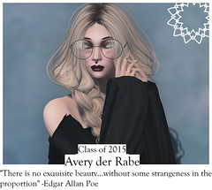 Secondlife Yearbook Challenge - The Poet (Avery der Rabe) Tags: sl yearbook photo challenge strawberry highschool