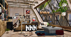 Over the roofs of paris (RyanTailor (Taking Clients)) Tags: applefall gacha 6republic event decor decorate decoration indoor outdoor skybox rare common 22769 fancydecor dustbunny goose nutmeg clustered fashiowl bazar quasi