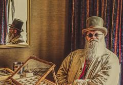 Tradesman at work (SMPhotos2548) Tags: steampunk vendor man portrait trades festival punk