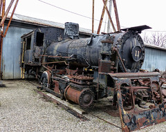 Next Stop, Scrapyard (J Wells S) Tags: steamlocomotive railroad whitewatervalleyrailroad steamengine railroadlocomotive rust rusty crusty junk abandoned connersville indiana trainsteamlocomotive train