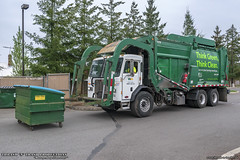 Peterbilt 320 - McNeilus Meridian Front Load Garbage Truck (Thrash 'N' Trash Prodcutions) Tags: garbage trash refuse truck recycle recycling trucks wm wastemanagement sanitation disposal rubbish waste collection vehicle green thinkgreen thinkclean mcneilus meridian front end load loader fel fl commercial dumpster bin container peterbilt 320 paccar caboverengine coe cng compressednaturalgas naturalgasvehicle trashmonkey22 thrashntrashproductions thrashntrash