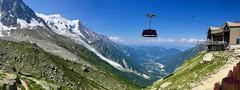Departure cable car Plan de l'Aiguille 2310 m to l'Aiguille du Midi 3778 m. (elsa11) Tags: plandaiguille aiguilledumidi montblancmassif chamonix mountains montagnes alps alpen alpes hautesavoie rhonealps france frankrijk cablecar glacier gletsjer gletscher glacierdesbossons
