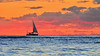 Sunset Sailing Waikiki (Edmund Garman) Tags: waikiki view sun surf sail boat down sailing honolulu hawaii oahu hi sea colorful water ocean warm winter outdoor orange clouds