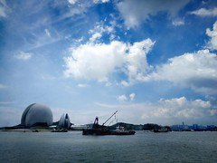 Zhuhai Opera House (MelindaChan ^..^) Tags: zhuhai china 珠海 外伶仃島 chanmelmel mel melinda melindachan blue sea water