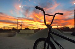 BMX Sunset (dougsterbob) Tags: bmx sunset skatepark adventure
