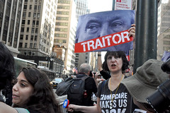 traitor3 (greenelent) Tags: notrump protest demonstration riseandresist streets people activists nyc newyork
