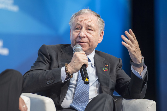 Jean Todt stressing a point