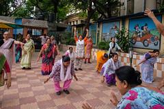 Morning exercise (SaumalyaGhosh.com) Tags: morning exercise kolkata india street streetphotography color fuji fujifilm laughter laugh people
